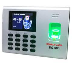 Máy chấm công vân tay Ronaldjack DG-600 chấm công vân tay có pin lưu điện
